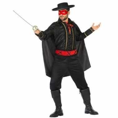 Carnaval spaanse held zwart/rood verkleed kostuum heren