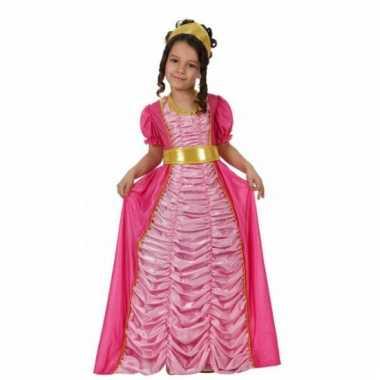 Carnaval  Sprookjes jurk roze kinderen kostuum