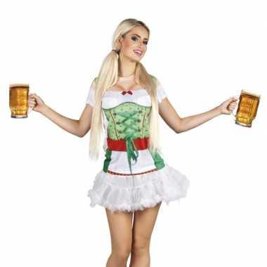 Carnaval tiroler heidi oktoberfest damesshirt kostuum