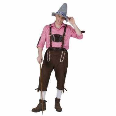 Carnaval  Tiroler tuinbroek heren kostuum