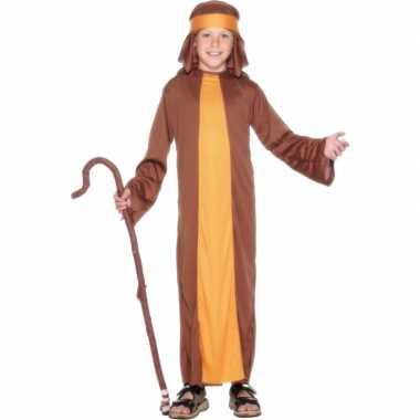 Carnaval  Verkleed kostuum schapenherder bruin