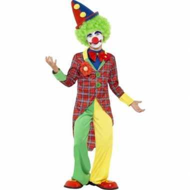 Carnaval  Verkleed pak clown kinderen kostuum