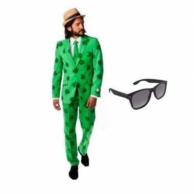 Carnaval verkleed sint patricks day heren kostuum maat (s) gratis zon