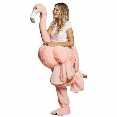 Carnaval verkleedkostuum flamingo volwassenen