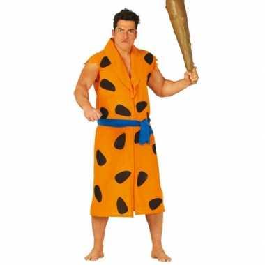 Carnaval  Volwassenen pak Fred Holbewoner kostuum