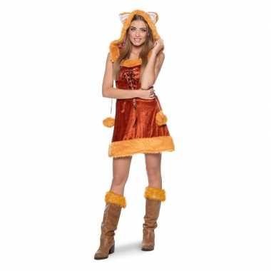 Carnaval vos dieren kostuum dames
