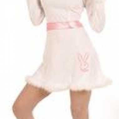 Wit roze jurk bunny
