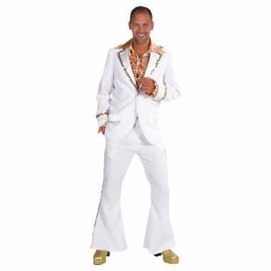 Carnaval  Wit seventies kostuum heren