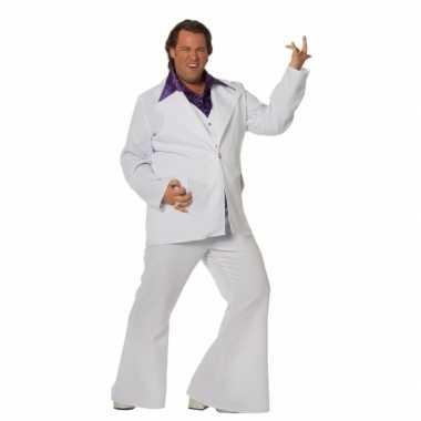 Carnaval  Witte disco heren kostuum grote maat