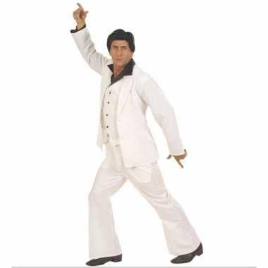 Carnaval  Witte disco heren kostuum