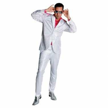 Carnaval  Witte glitter kostuum heren