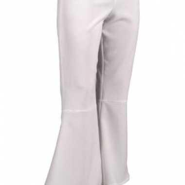 Carnaval  Witte hippie dames broeken kostuum