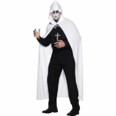 Carnaval  Witte omslag cape kostuum