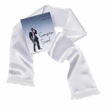 Witte sjaal kwastjes heren