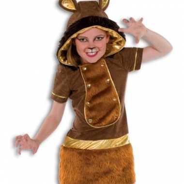Carnaval  Zachte pluche leeuw kostuum meisjes