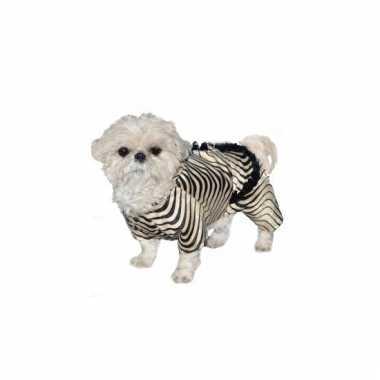Carnaval zebra pak honden kostuum