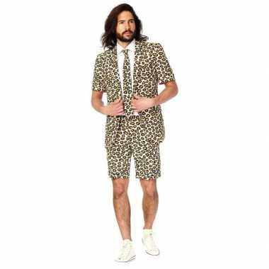 Carnaval  Zomer kostuum jaguar print heren