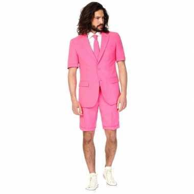 Carnaval  Zomer kostuum roze heren