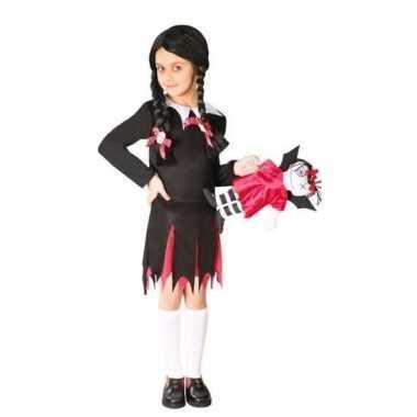 Carnaval zwart jurkje woensdag meiden kostuum