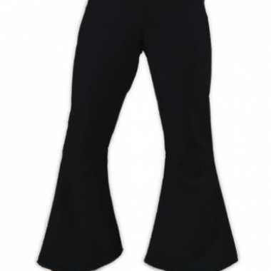 Carnaval  Zwarte dames hippie broeken kostuum