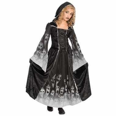 Carnaval  Zwarte gothic jurk meiden kostuum