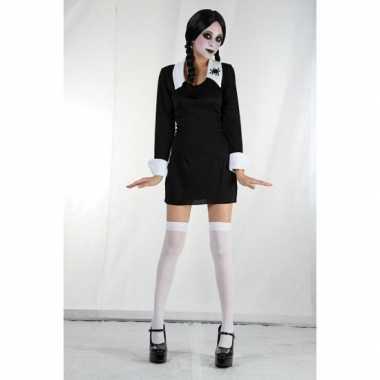 Carnaval  Zwarte Wednesday jurk meiden kostuum