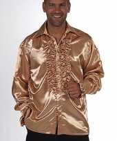 Gouden rouches blouse heren