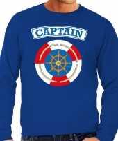Kapitein captain verkleed sweater blauw heren