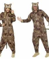Pyamakostuum luipaard dames heren