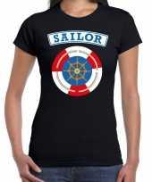 Zeeman sailor verkleed t-shirt zwart dames